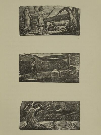 William Blake (1757-1827), 'The Blighted Corn, A set of 3 original woodcuts/engravings', 1821