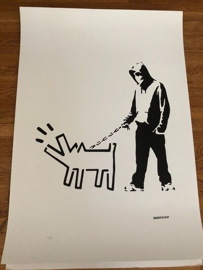 After Banksy, 'Hoodie & Haring Dog ', 2017