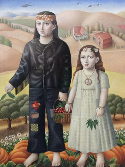 Amy Hill, 'Couple with Plants', 2018