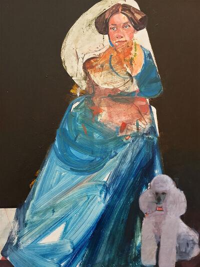 Karim Hamid, 'Portrait of a Lady with Poodle', 2016