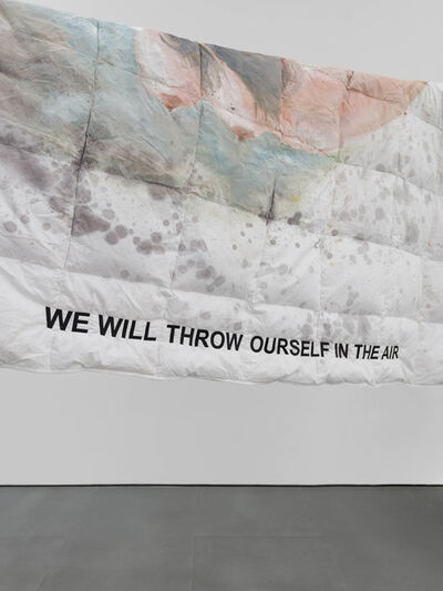 Laure Prouvost, 'WE WILL THROW OURSELF IN THE AIR DUVET', 2019