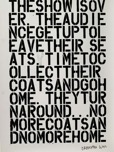 Christopher Wool, ' CHRISTOPHER WOOL & FELIX GONZALEZ-TORRES, UNTITLED LITHOGRAPHIC PRINT', ca. 1992