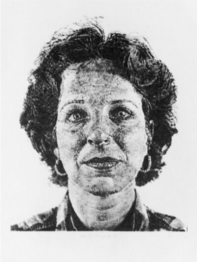 Chuck Close, 'Leslie/Fingerprint', 1986