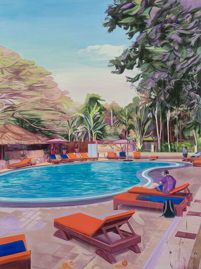 Lei Qi, 'An afternoon at a swimming pool in Bagan', 2018