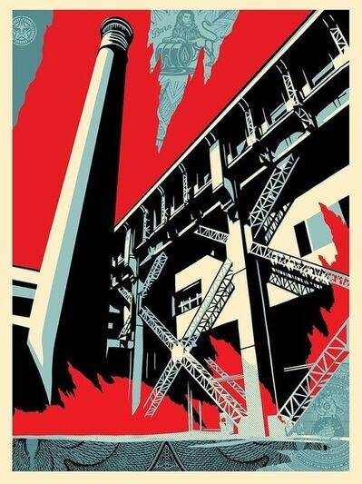 Shepard Fairey (OBEY), 'fossil factory', 2017