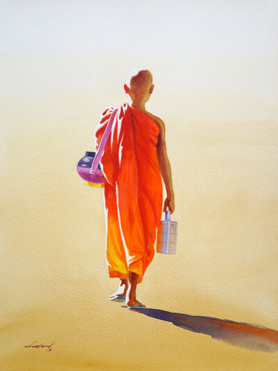 Min Wae Aung, 'Towards Monastery (3)', 2016