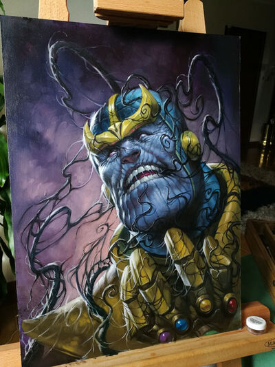 Lucio Parrillo, 'Venomized #1 - Thanos Variant', 2018