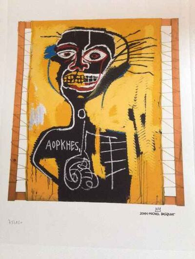 Jean-Michel Basquiat, 'Cabeza, Basquiat Reproduction', 1982