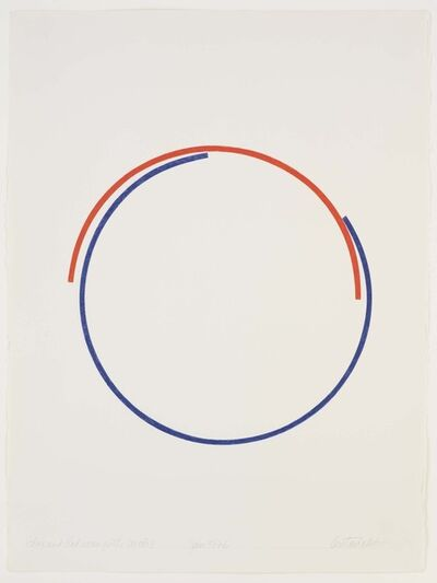 Stephen Antonakos, 'Blue and Red Incomplete', 1976