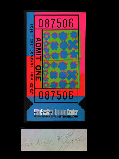 "Andy Warhol, '""Lincoln Center Ticket"", The 1967 SCARCE ACRYLIC EDITION of 200 SIGNED.', 1967"
