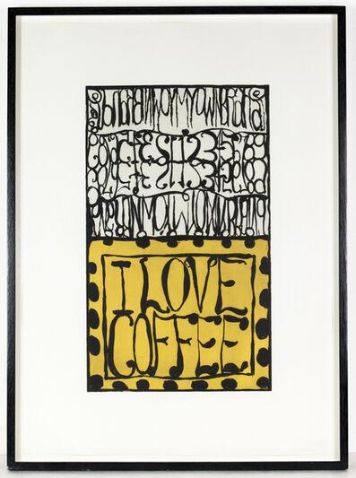 Matt Mullican, 'i love i love Coffee', 2009