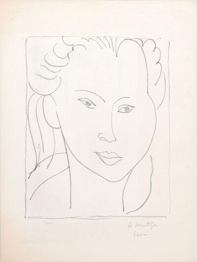 Henri Matisse, 'Tête de femme de face.', 1945
