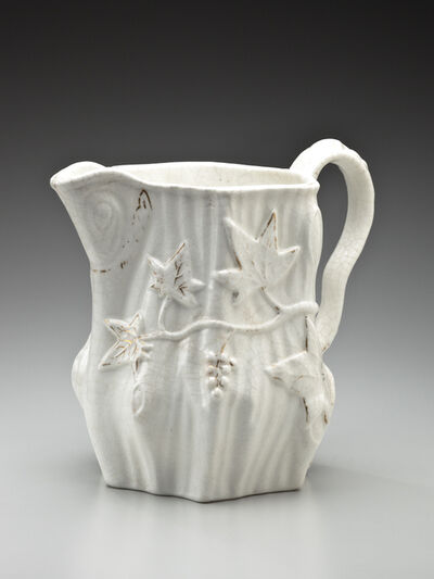 William Young, 'Pitcher  with tree trunk and ivy design ', 1853