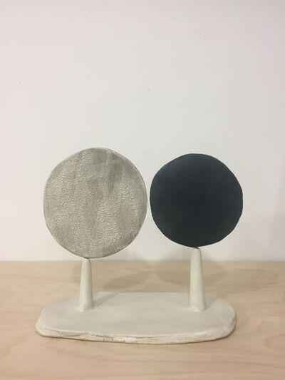 Keiko Narahashi, 'Untitled (White & Black Rounds)', 2019