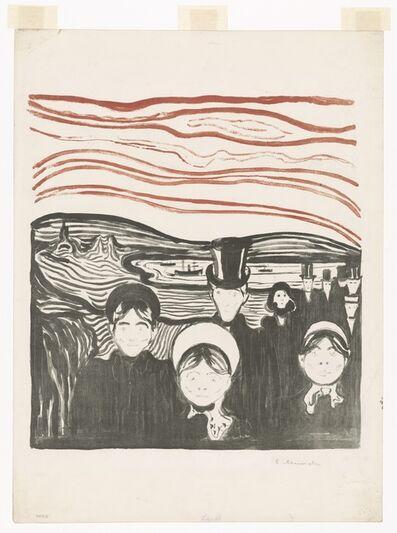 Edvard Munch, 'Angst', 1896