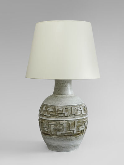 Marius Bessone, 'an important ceramic lamp by Marius Bessone', ca. 1955