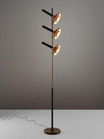Oscar Torlasco, 'Large Oscar Torlasco for Lumi Floor Lamp in Brass', 1970s