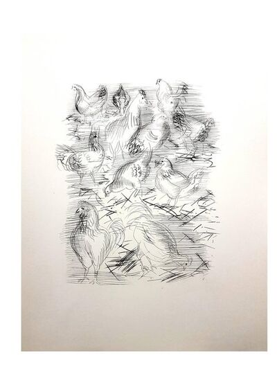 Raoul Dufy, 'Raoul Dufy - Chickens - Original Etching', 1940