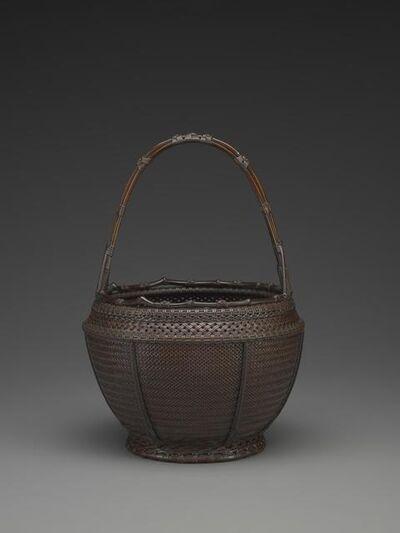 Tanabe Chikuunsai I, 'Wide-Mouthed Flower Basket; (Sashiko Hirokuchi Hana Kago)', 1919