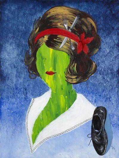 Tadanori Yokoo, 'Woman with Man's Shoe', 2017