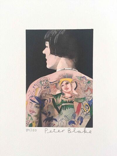 Peter Blake, 'Tattooed People, Betty', 2015