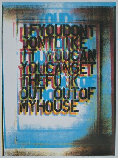 Christopher Wool, 'My House II', 2000