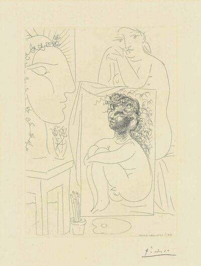 Pablo Picasso, 'Modèle accoudé sur un tableau, from: La Suite Vollard', 1933