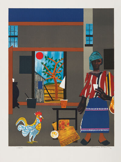 Romare Bearden, 'Morning of the Rooster', 1980