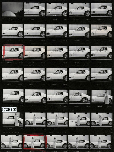 Julian Wasser, 'Joan Didion at Home in Hollywood, Time Magazine (Contact Sheet)', 1968