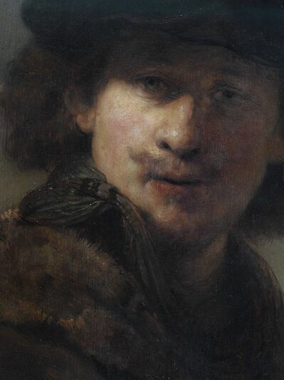 Reinhard Gorner, 'Detail From: Self Portrait with Velvet Cap and Gown with Fur Collar, Rembrandt', 2008