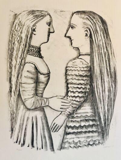 Massimo Campigli, 'Due Donne di Profilo.', 1952