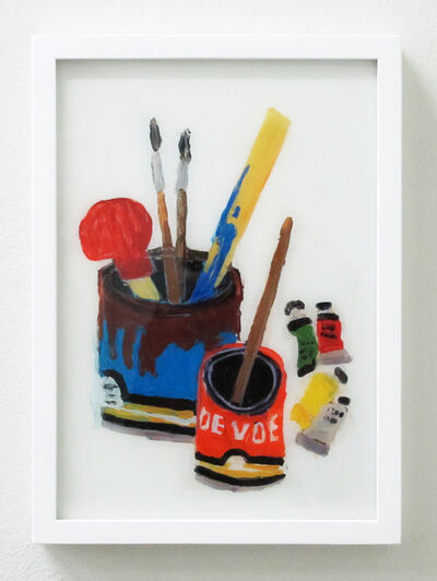 Rose Eken, 'Still Life With Bottle And Paint Tubes', 2016