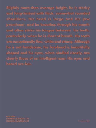 Birgir Andrésson, 'Portrait # 6 (Slightly more than average height)', 1999-2005