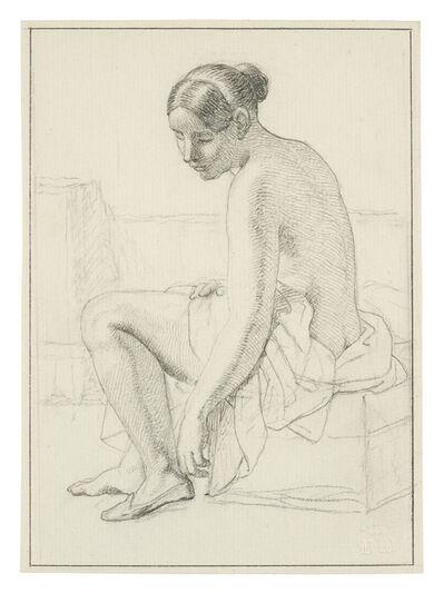 Christoffer Wilhelm Eckersberg, 'Study for the Painting 'Female Nude Putting on her Slippers', Carlsberg Glyptotek, Copenhagen', 1843