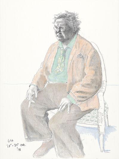 David Hockney, 'Jonathon Brown', 2018