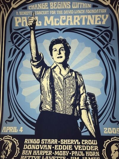 "Shepard Fairey, '""Paul McCartney NYC Change Begins Within"" Blue Edition', 2009"
