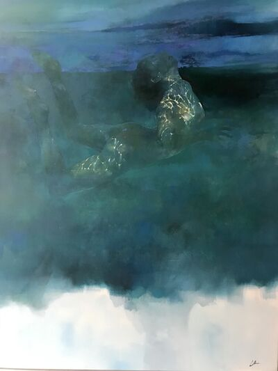 Bill Bate, 'Untitled - abstract female figurative painting', 2020