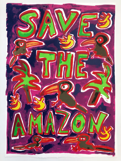 Katherine Bernhardt, 'Save The Amazon (Pink)', 2019