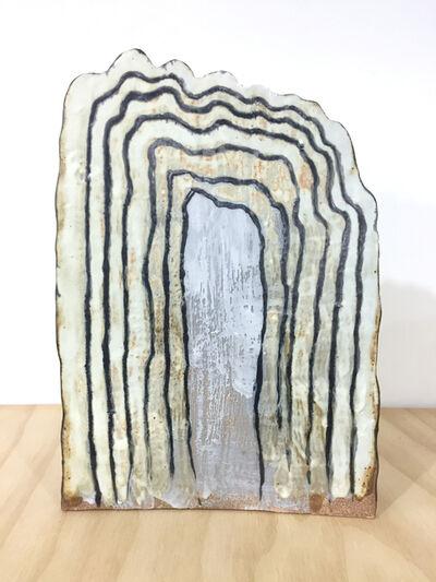 Keiko Narahashi, 'Untitled (Wavy White Black Lines)', 2017