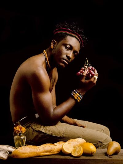 Awol Erizku, 'Boy Holding Grapes ', 2012