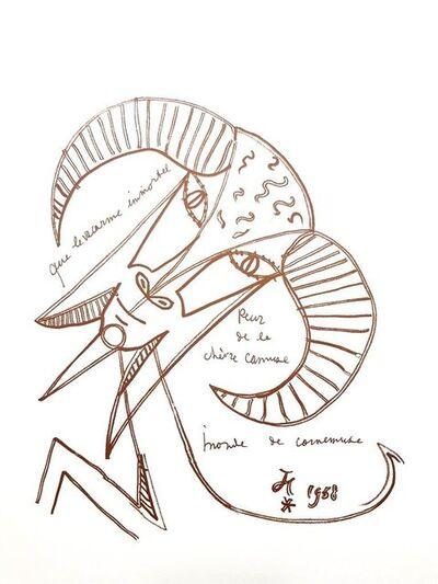 """Jean Cocteau, 'Original Lithograph """"Immortal Goat"""" by Jean Cocteau', 1958"""