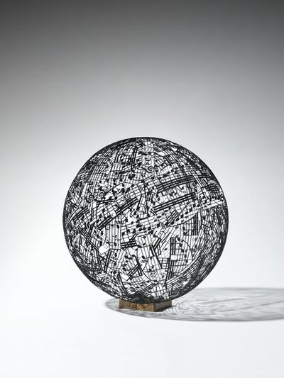 Jaume Plensa, 'Selfportrait with Music (study)', 2018
