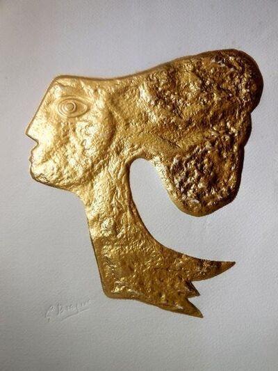 "Georges Braque, 'Rare ""Atalante"" Gold Embossed Etching', 20th Century"