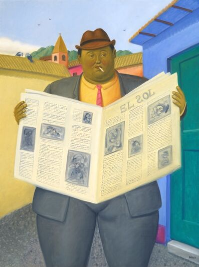 Fernando Botero, 'The reader', 2013