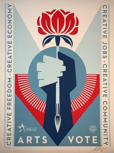 "Shepard Fairey (OBEY), 'Shepard Fairey ""VOTE"" Artist's Edition Urban Art Contemporary Art Street Print', 2020"