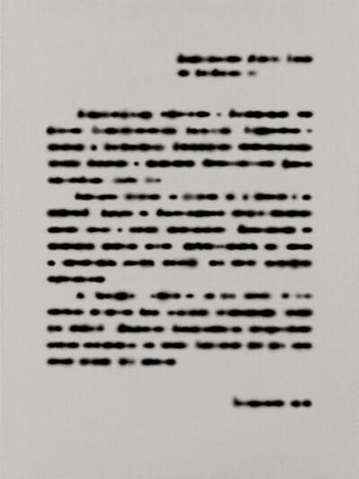 Rinat Voligamsi, 'Texts. Sheet 2', 2016
