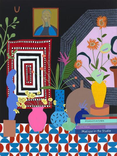 Mary Finlayson, 'Floral Arrangement with Portrait', 2020