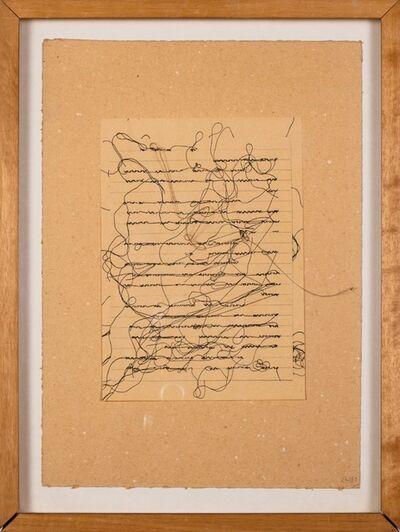 Maria Lai, 'Pagina scritta', 1980