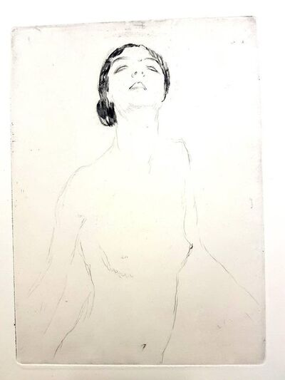 "Jean Gabriel Domergue, 'Original Etching ""Woman I"" by Jean-Gabriel Domergue', 1924"