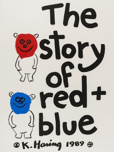 Keith Haring, 'The story of red and blue (Littmann p.128)', 1989